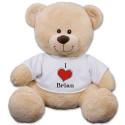 Personalized I Love Teddy Bear