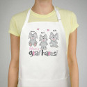 Gray Hares Personalized Apron