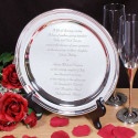 Personalized Wedding Invitation Silver Plate