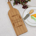 Engraved Wine Bottle Cutting Board