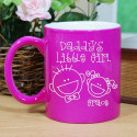 Engraved Daddy's Little Girl Two-Tone Mug
