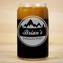 Mountain Beer Can Glass