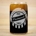 Flag Established Beer Can Glass