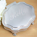 Personalized Victorian Style Jewelry Box Custom Name Quote Printed