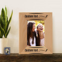 "Elegant Personalized Genuine Red Alder Wood Picture Frame 3 1/2"" x 5"""