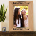 "Beautiful Personalized Genuine Red Alder Wood Picture Frame 5"" x 7"""