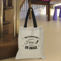Personalized Cotton Tote Bag with Black Handles