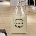 Personalized Cotton Tote Bag with Natural Handles