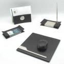Black Leather Desk Set