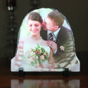 Personalized Oval Photo Picture Frame with Custom Image Printed