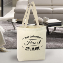 Personalized Natural High Quality Promotional Canvas Tote Bag w/Gusset