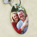 Custom Oval Photo Key Tag with Personalized Image