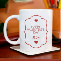 Happy Valentine's Day Personalized Mug Beautiful Gift for Couples