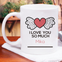 Beautiful I Love You So Much Personalized Mug for Valentine Day