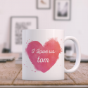 I Love Us Valentine Day Mug for Couples with Loved ones Name Printed