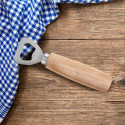 Personalized Wood Handled Bottle Opener With Custom Name Text Engraved