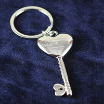 Personalized Key To My Heart Key Chain with Custom Name Quote Printed