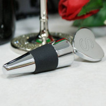 Personalized Heart Shaped Silver Bottle Stopper Custom Photo/Quote