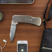 Stainless Steel Locking Pocket Knife Custom Name Monogram Engraved
