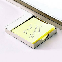 Stylish Top Bar Post-It Note Holder with Custom Message Engraved