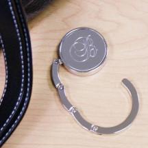 Personalized Folding Metal Bag Hanger  Custom Name Monogram Engraved