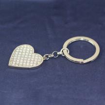 Glitter Galore Single Heart Key Chain Custom Name Monogram Engraved