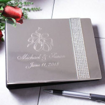 Personalized Glitter Galore Signing Wedding Guest Book