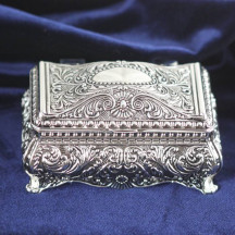 Personalized Ornate Rectangular Jewelry Box with Custom Name/Quote