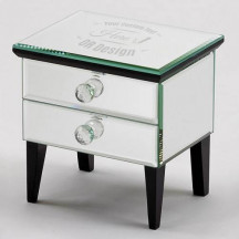 Personalized Decorative Vesta Box with 2 Drawers Table Jewelry Box With Mirror