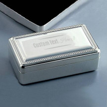 Personalized Double Velvet Jewelry Box Custom Name Message Engraved