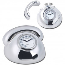Luxurious And Elegant Beautiful Polished Silver Metal Telephone Clock