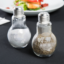 Personalized Happy Mother's Day 4oz Glass Lightbulb Salt and Pepper Shaker Set