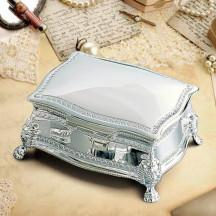 Personalized Figaro Rectangular Jewelry Box Custom Photo/Quote Printed