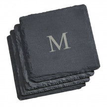 Personalized Set of 4 Square Slate Coasters