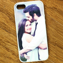 White Rubber  iPhone 5/5s Personalized Case with Custom Photo Printed
