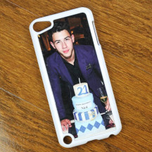 Personalized White iPod 5 Case with Custom Photo Image Printed