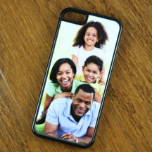Black Plastic Personalized iPhone 5c Case with Custom Image Printed
