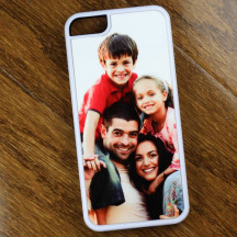 White Personalized iPhone 5c Plastic Case with Custom Image Printed