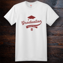 Personalized Graduation Cotton T-Shirt, Hanes