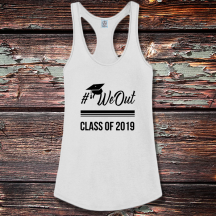 Personalized Class Of 2019 Shirttail Satin Jersey Tank