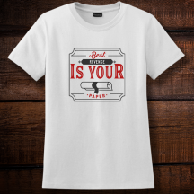 Personalized Best Revenge Is Your Paper, Graduation Ladies T-Shirt, Hanes