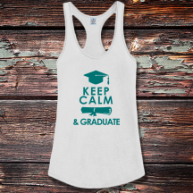 Personalized Graduation Shirttail Satin Jersey Tank