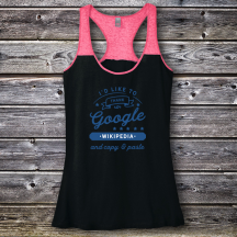 Personalized I'd Like To Thank Google and Copy & Paste Graduation Varsity Tank