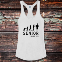 Personalized Graduate Evolution Shirttail Satin Jersey Tank