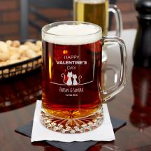 Personalized Valentine's Day Beer Mug 23 oz