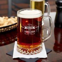 Personalized Christmas Beer Mug 23 oz