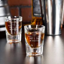 Personalized Valentine's Day Libbey Fluted Whiskey / Shot Glass