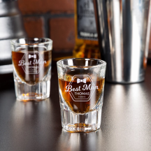 Personalized Bestman Libbey Fluted Whiskey / Shot Glass