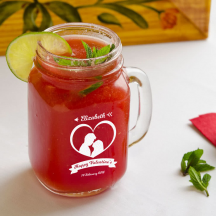 Personalized Valentine's Day Mason Jar, Drinking Jar with Handle 16 oz