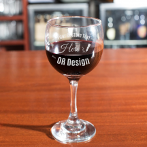Personalized Core Balloon Wine Glass